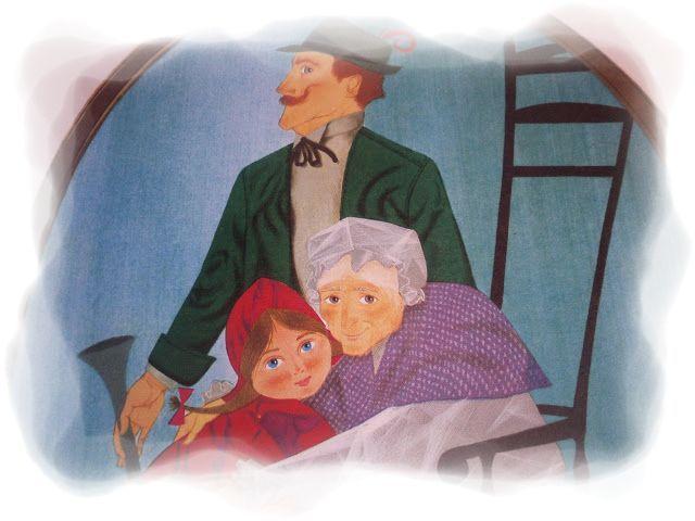 Caperucita roja, la abuela y el cazador