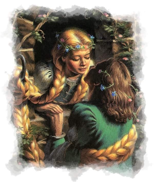 Encuentro Rapunzel con el príncipe