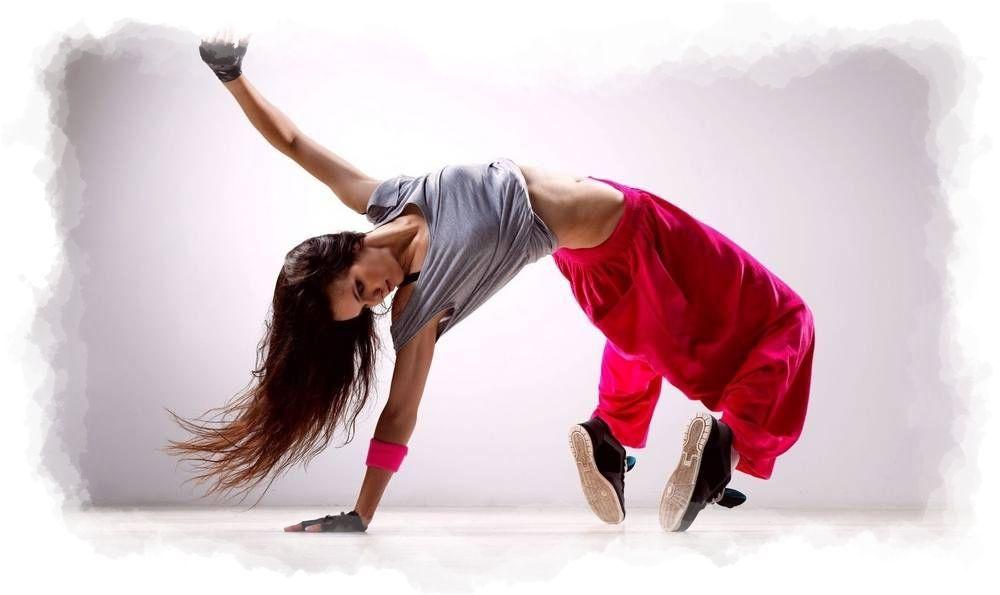 Bailarina de danza moderna urbana
