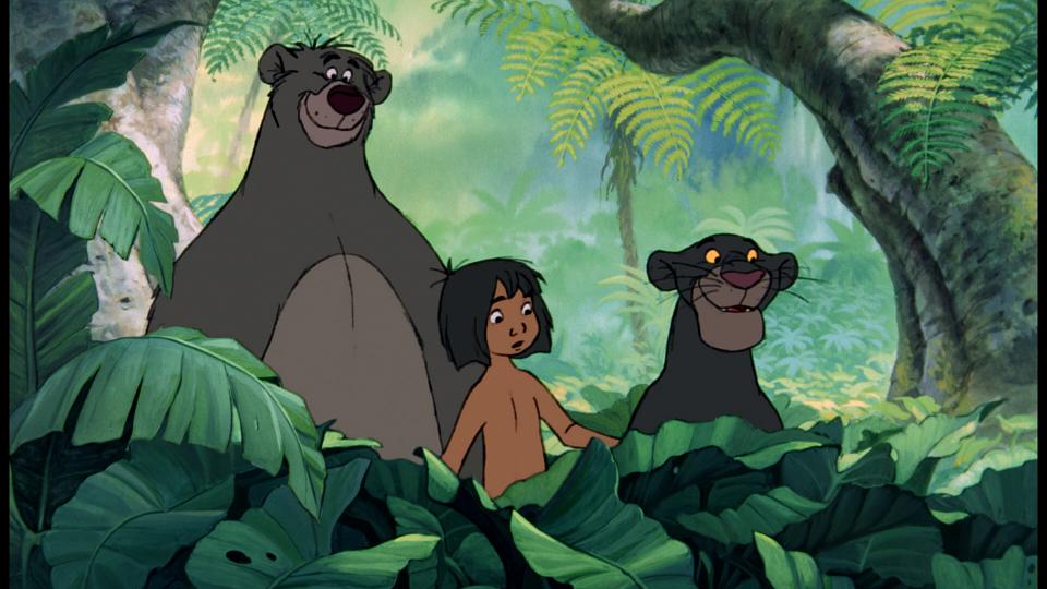 Baloo, Mowgli y Bagheera