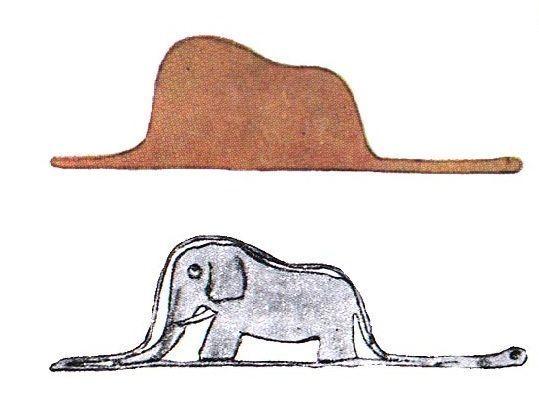 Sombrero-o-boa-con-elefante-en-su-interior