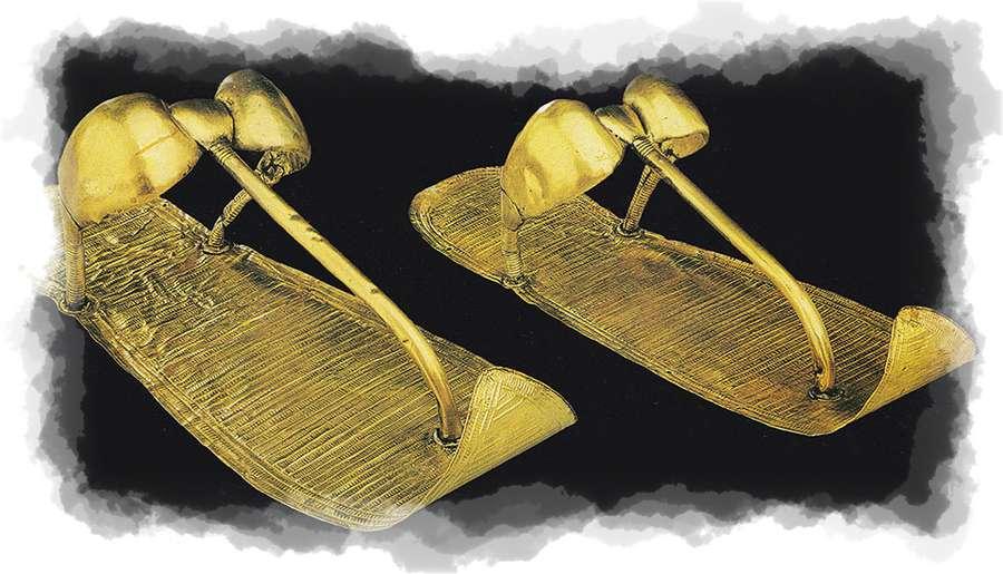 sandalias de oro Egipto