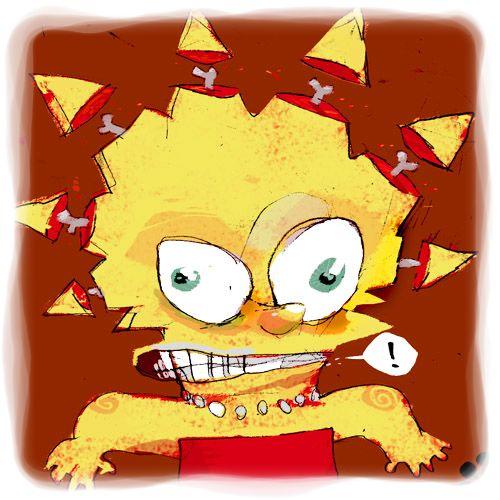 3. Lisa Simpson desquiciada